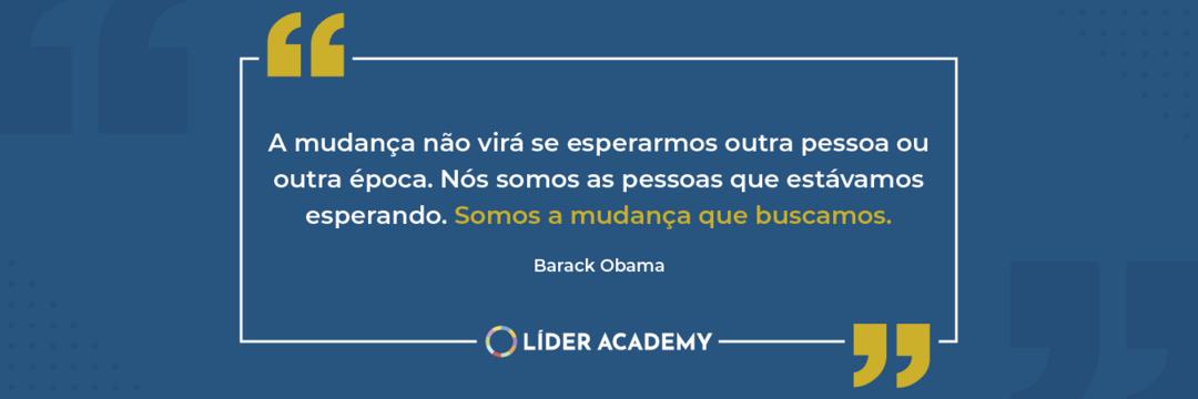 Frase de liderança: Barack Obama