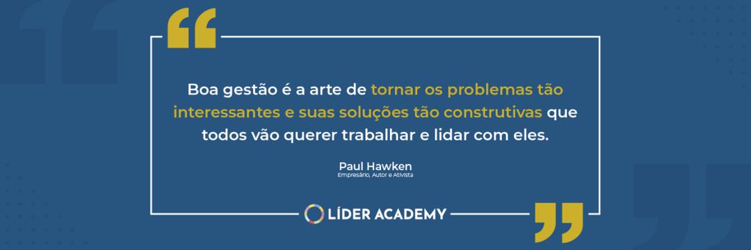 Frase de liderança: Paul Hawken