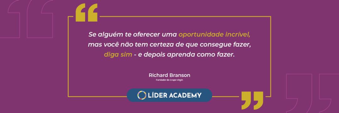 Frase de liderança: Richard Branson